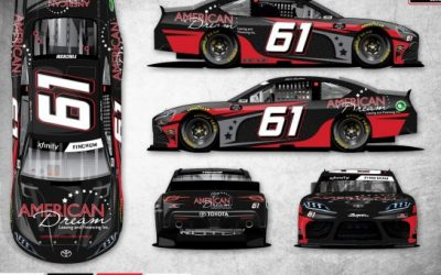 American Dream Leasing and Financing sponsoring Chad Finchum at Martinsville